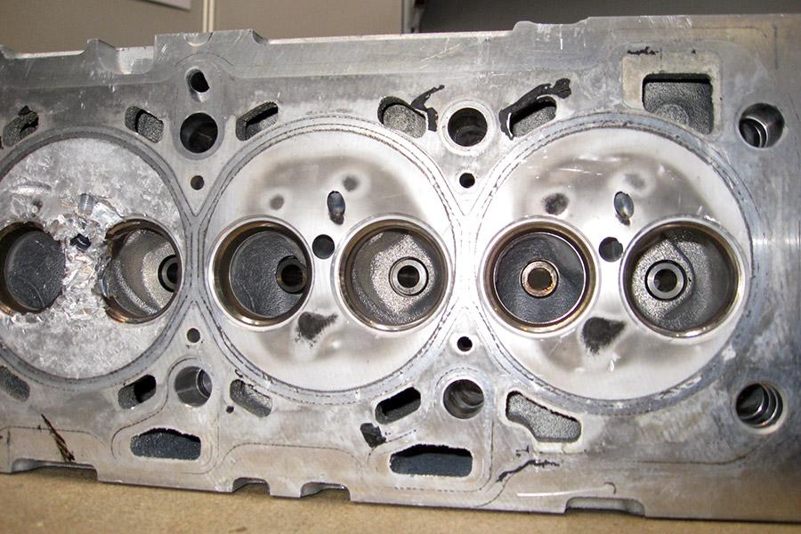 Cylinderkop na reiniging